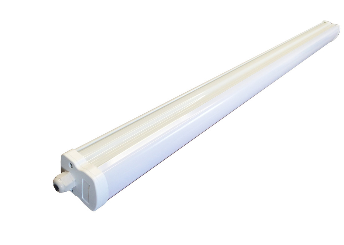 Warm White LED Batten Light Fittings High Efficiency Lifetime 30000 Hrs PC Material