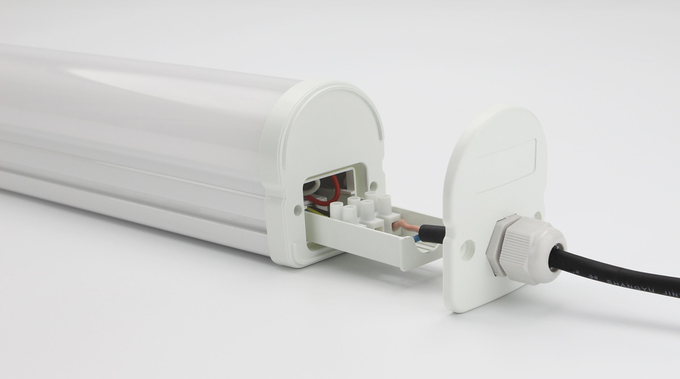 IP65 LED Batten Light cool design,white mix gray PC body,fast install supermarket